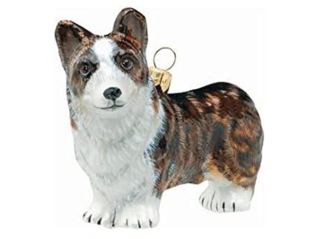 cardigan welsh corgi dog polish blown glass polish christmas ornament decoration - Corgi Christmas Ornaments