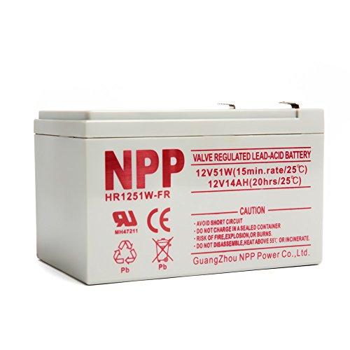 (NPP HR1251W FR 12V 51W 12Volt 14Amp High Rate Long Life Rechargeable Sealed Lead Acid UPS Battery)