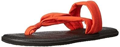 Sanuk Women's Yoga Triangle Dress Sandal, Flame, 5 M US