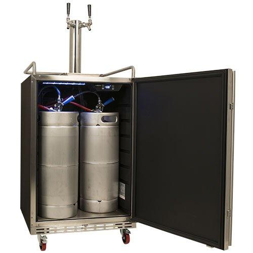 edgestar full size dual tap built in kegerator s