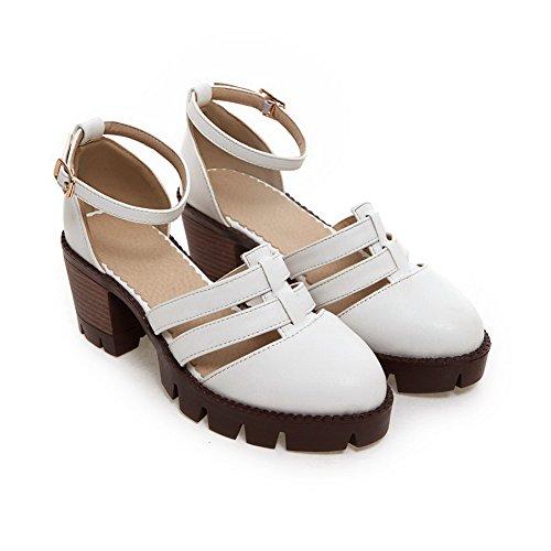 EU Blanc Femme Blanc AN Compensées Sandales 5 36 qA78aa