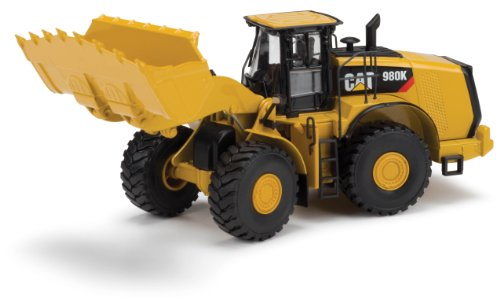 Norscot Cat 980K Wheel Loader Rock Configuration Die Cast Vehicle (1:50 Scale), Caterpillar Yellow ()
