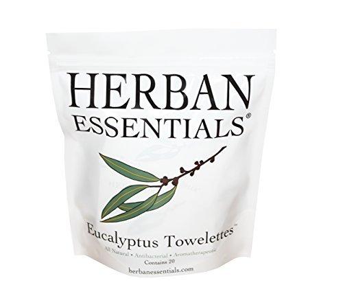 Herban Essentials Towelettes-Eucalyptus 20 Count