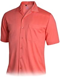Mens Dry Swing Stripe Combo Texture Camp Shirt #1555