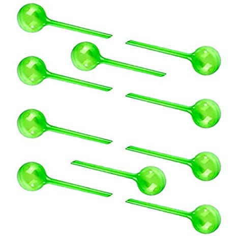 10er-Set Bew/ässerungskugeln L,Gr/ün Dosierte Bew/ässerung Kunststoff Wasserspender f/ür Topfpflanzen F/ür Gartenpflanze