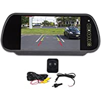 Rockville Flush Angle Mount Backup Camera+Rearview Car Mirror With 7 Monitor