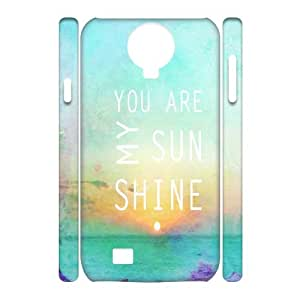 DIY 3D SamSung Galaxy S4 I9500 Case, You Are My Sunshine quote Customized Phone Case