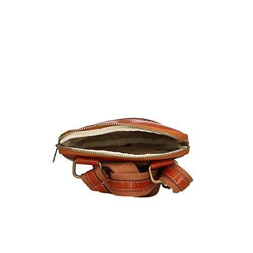 del 16x18x4 Aren de cuero Broncearse Italy Hombro in bolsa Cm hombre auténtico Made 55wvgq