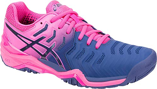 ASICS Womens Gel-Resolution 7 Tennis Shoe, Blue Print/Blue Print, Size 6.5