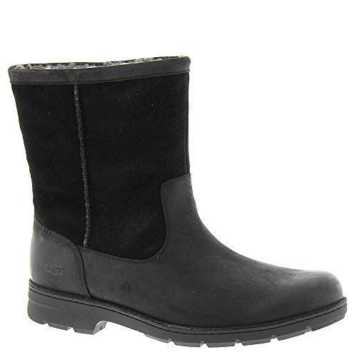 UGG Men's Foerster Black Leather Boot 8 3E - Extra Wide (Mens Extra Wide Winter Boots compare prices)