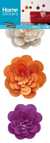 Nouvelles Images HOST1942 Flowers of Paper Wall Decals, Mini