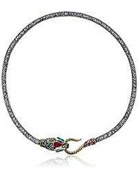 Betsey Johnson Pave Snake Mesh Collar Necklace
