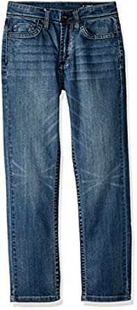 Buffalo by David Bitton Big Boys' Ash-X Skinny Fit Denim Jeans with Stretch, Faded and Blasted, 20