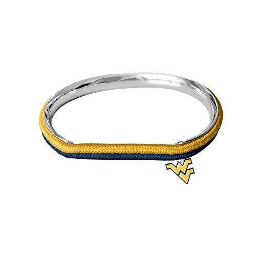 NCAA West Virginia Mountaineers Hair Tie Bangle Bracelet ()