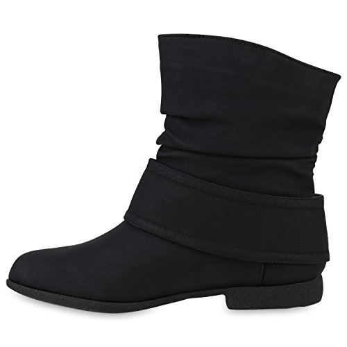 Stiefelparadies Zapatillas de Material Sintético Para Mujer, Color Negro, Talla 38