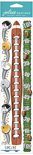 Jolee's Boutique Dimensional Border Stickers, Football