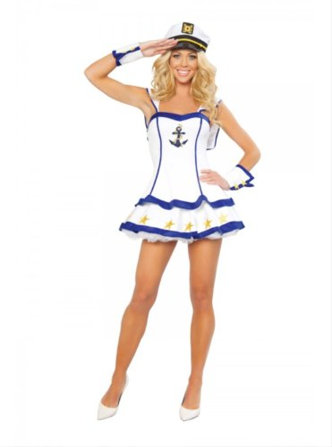 Sailor Up Costume 40s Pin (Sailor Captain Adult Costume -)