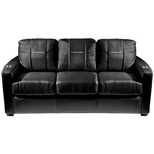 XZipit GM Silver Sofa with Camaro 2014 Logo Panel, Black