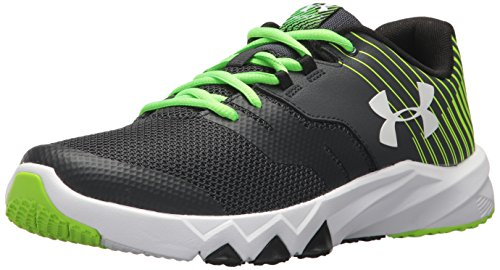 Green Boys Sneakers (Under Armour Boys' Grade School Primed 2, Anthracite/Hyper Green/White, 3.5 M US Big Kid)