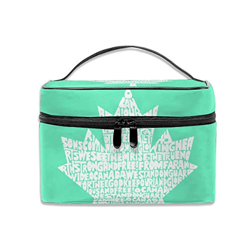 Wldwengly Cosmetic Bag Canadian National Anthem Portable Hanging Travel Toiletry Bag (Hotels National Canadian)