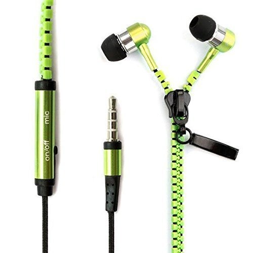 I kool Weather Zippered Headphones Ever Green product image
