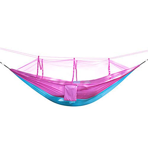 one- Ultralight Bug Net Hammock Tent Mosquito Outdoor Backyard Hiking Backpacking Travel Camping Double,Pink