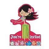 Let's Hula Invitations 8ct