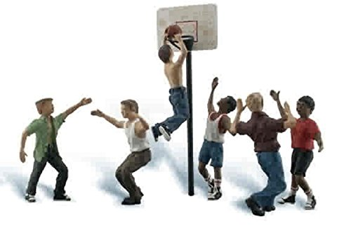 Woodland Scenics O Scale Scenic Accents Figures/People Set Shootin' Hoops - Scenic Figures Accents Scale
