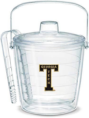 Tech Bucket Ice (Tervis 1053383 Georgia Tech Yellow Jackets College Vault Logo Ice Bucket with Emblem and Clear Lid 87oz Ice Bucket, Clear)