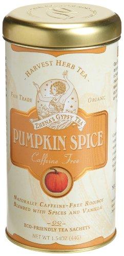 Zhena's Gypsy Tea, Vanilla Pumpkin Spice Harvest Herb Tea, 22-Count Tea Sachets (Pack of 3)