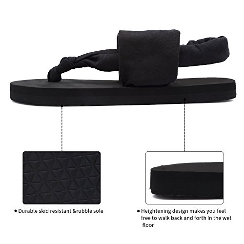 Sandals Flop Women Meditation Black Sling Studio Yoga Shoes Womens CIOR Outdoor mat Back Flip 746EyIxq
