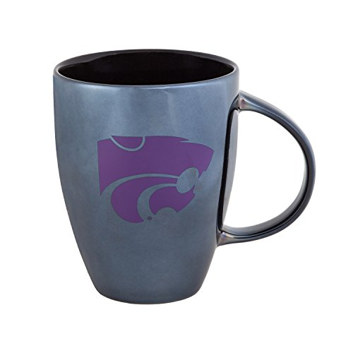 Team Sports America Kansas State University Black Lustre Bistro Coffee Mug, 18 ounces