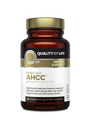 Quality Of Life Kinoko AHCC Gold Immune Health, 500 Mg, 30 Count (Kinoko Platinum Ahcc 750 Mg)
