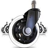 Office Chair Caster Wheels (Set of 5) - Heavy Duty