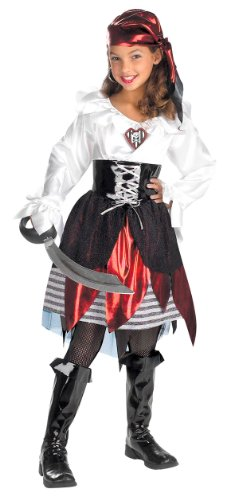 Pirate Lass Child Costume - Medium (Girls Pirate Boots)