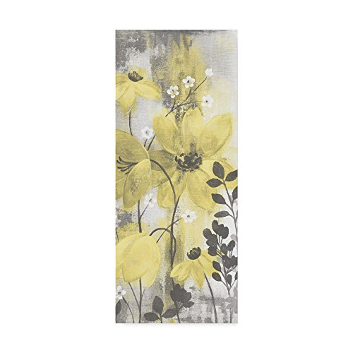 Trademark Fine Art Floral Symphony Yellow Gray Crop II by Silvia Vassileva, 8x19 ()