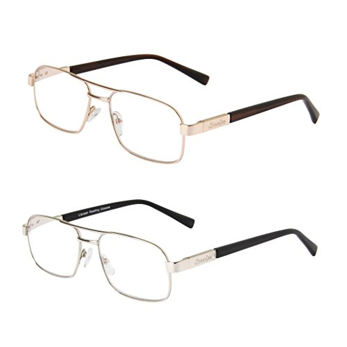 LianSan Designer Women Men Reading Glasses Metal Rectangular Oversized Magnifying Eyeglasses Eye Strain Readers 1.5 2.0 1.0 4.0 2.5 3.0 3.5 L7299 2 Pack - Wayfarer Glasses Ebay