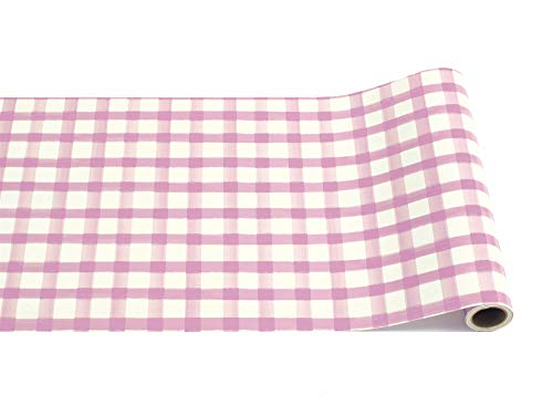 "Hester & Cook Lilac Painted Check Disposable Paper Runner, 20"" x 25"