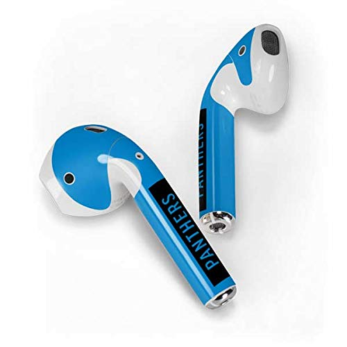Skinit Carolina Panthers Blue Performance Series Apple AirPods Skin - Officially Licensed NFL Audio Sticker - Thin, Case Decal Protective Wrap for Apple AirPods Gen 1