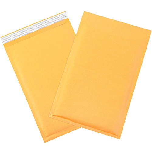 "Aviditi B854SS Paper #1 Self-Seal Bubble Lining Mailer, 12"" Length x 7-1/4"" Width, Kraft (Case of 100) free shipping"