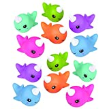 Kicko Narwhal Squirt Toy - Pack of 12, 2' Assorted Rubber Water Squirties - Perfect Bath Toys, Summer Beach Toys, Educational Game Set, Party Favors and Supplies for Toddlers, Boys and Girls