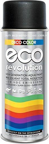 Deco Paint Eco Revolution Water Based Acrylic Spray 28 Colours From The Ral Palette Styrofoam Fabrics Flowers Sensitive Materials Art Decor Craft Diy Ral 9005 Matte Black Baumarkt