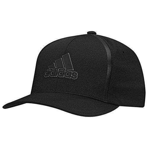 Adidas Tour Hat (Adidas 2017 Tour Delta Flex-Fit Textured Structured Hat Mens Stretch Golf Cap Black Large/XL)