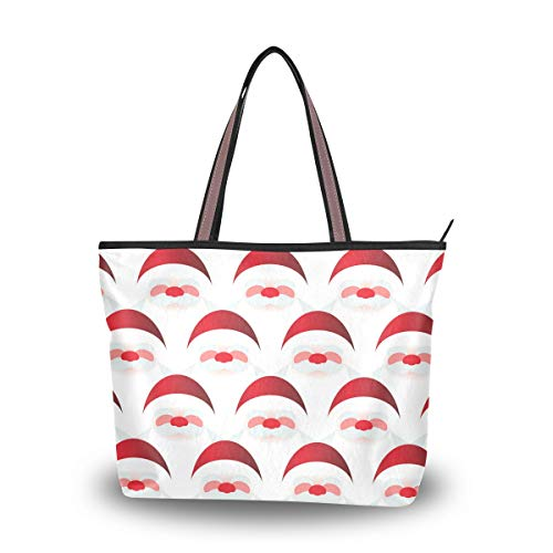 Blindfolded Red Nose Santa Claus Stylish Ladies Tote Bag High-grade Polyester Fabric Travel Essential Everyday Tote