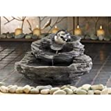 Rock Design Tabletop Yard Garden Decor Water Pump Cascading Fountain