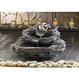 Rock Design Tabletop Yard Garden Decor Water Pump Cascading Fountain