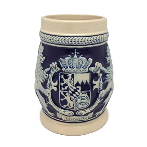 (Beer Stein Germany Bayern Coat of Arms Beer Mug by E.H.G. | .75 Liter)