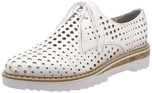 White Stringate Tozzi Donna Oxford Scarpe Patent Bianco 23506 Marco Hw0Uxznqz