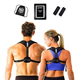 Brace Brigade Posture Corrector - Back Support for Men & Women - Seamlessly Wear Beneath Clothing to Get Upright - Fixes Posture and Relieves Shoulder, Lower and Upper Back Pain - One Size Fits All