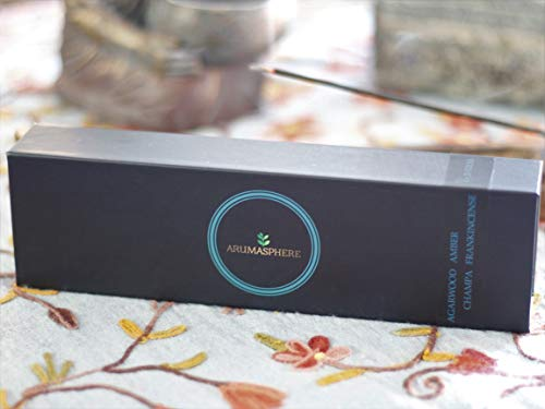 Arumasphere - 100% Natural Premium Incense - Agarwood (Oud) - Amber - Champa - Frankincense - Set of 4 x 25 Sticks - 75 Hours Burn Time